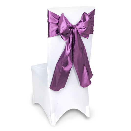 Aubergine Chair Sashes Event Planners Surrey