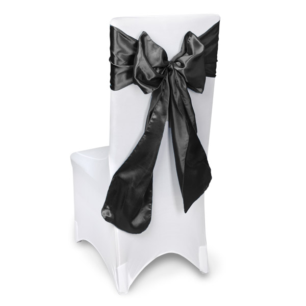 Black Chair Sashes Event Planners Surrey