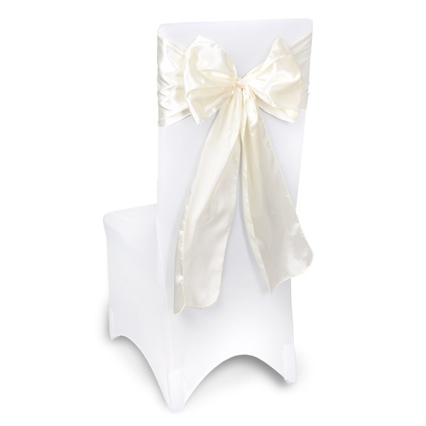 Ivory Chair Sashes Event Planners Surrey