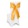 Gold Satin Chair Sashes Event Planners Surrey