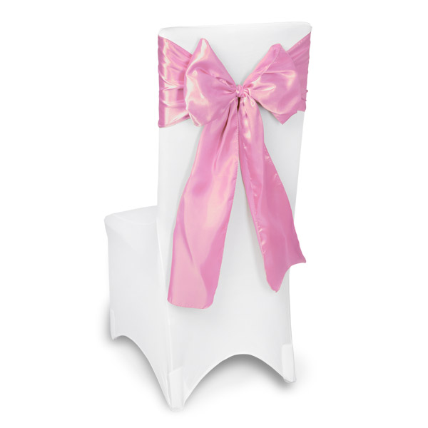 Pink Chair Sashes Event Planners Surrey