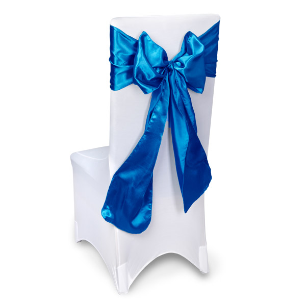 Royal Blue Chair Sashes Event Planners Surrey