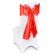 Red Satin Chair Sashes Event Planners Surrey