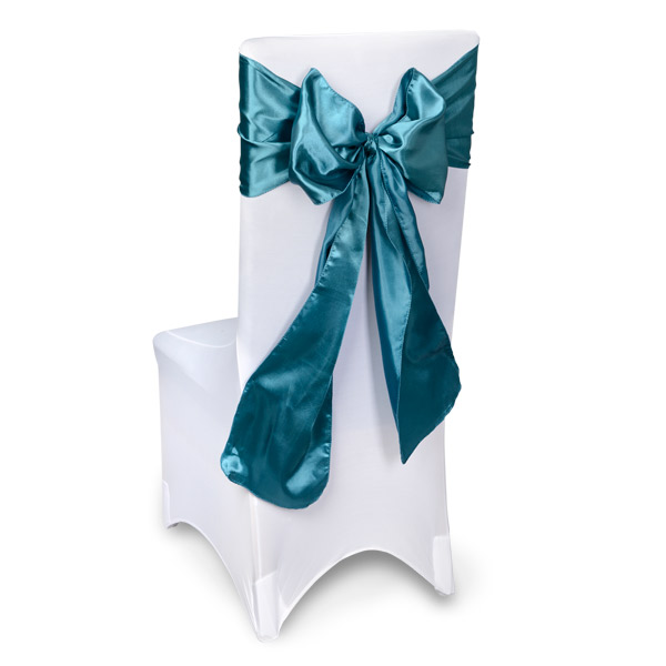 Teal Chair Sashes Event Planners Surrey