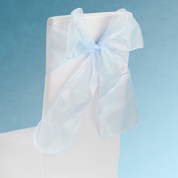 Sheer Blue Chair Sashes Event Planners Surrey