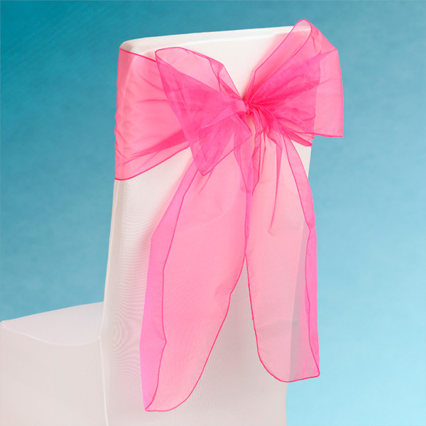 Sheer Fuchsia Chair Sashes Event Planners Surrey