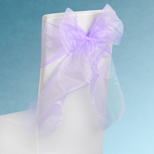 Sheer Lilac Chair Sashes Event Planners Surrey