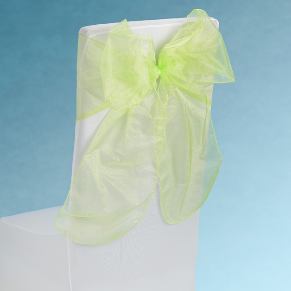 Sheer Lime Chair Sashes Event Planners Surrey