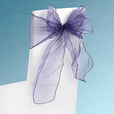 Blue Sheer Chair Sashes Event Planners Surrey