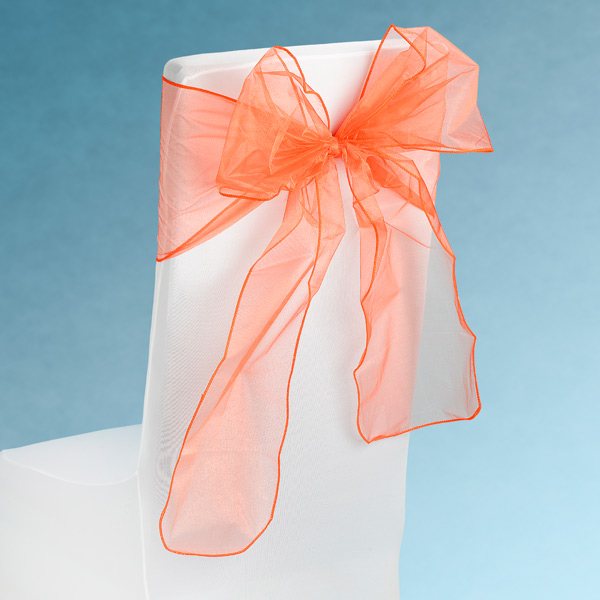 Sheer Orange Chair Sashes Event Planners Surrey