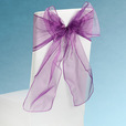 Plum Sheer Chair Sashes Event Planners Surrey