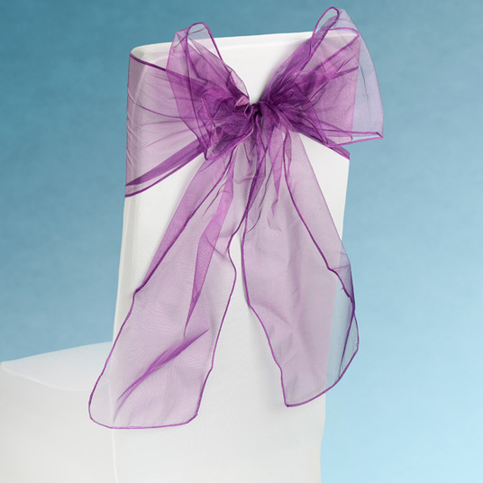 Sheer Plum Chair Sashes Event Planners Surrey