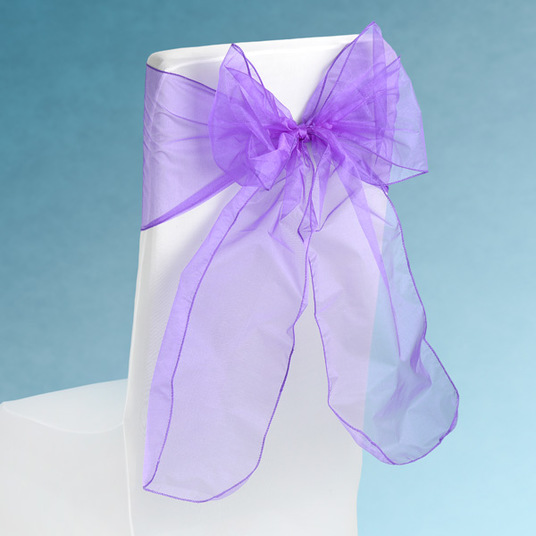 Sheer Purple Chair Sashes Event Planners Surrey