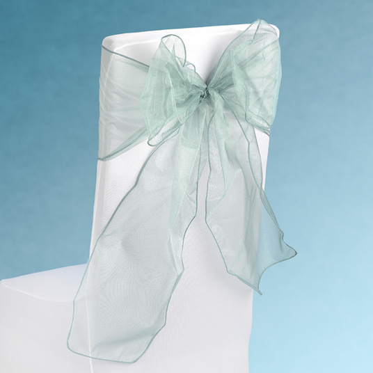 Sheer Sage Green Chair Sashes Event Planners Surrey
