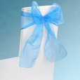 Turquoise Sheer Chair Sashes Event Planners Surrey