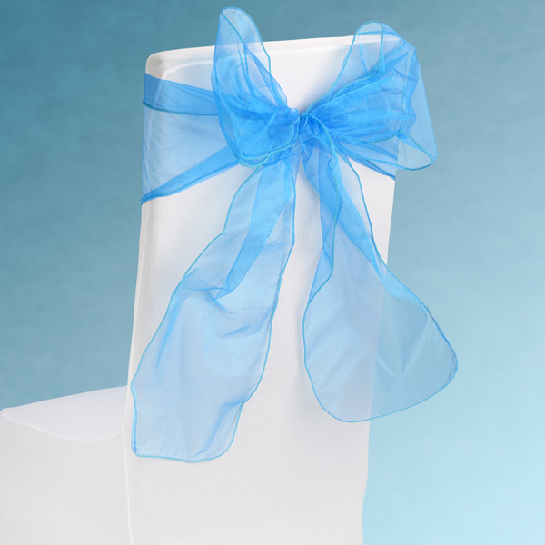 Sheer Turquoise Chair Sashes Event Planners Surrey