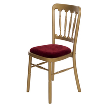 Ash chair with burgandy cushion event planners surrey