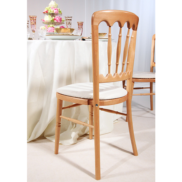 Ash chair white cushion event planner surrey