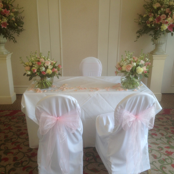 Chair cover hire weddings Surrey