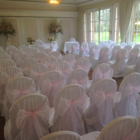 Chair cover hire weddings Hampshire